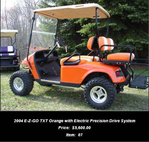 2004 E-Z-GO TXT Orange