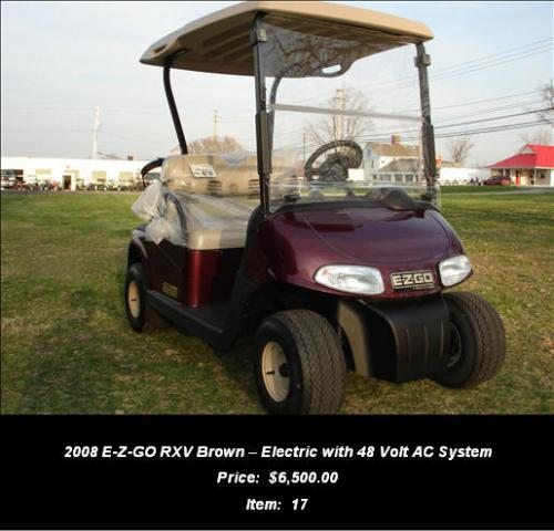 2008 E-Z-GO RXV Brown